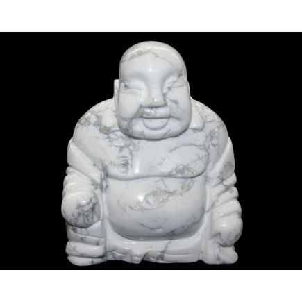 Howlite (White) Buddha - 75mm