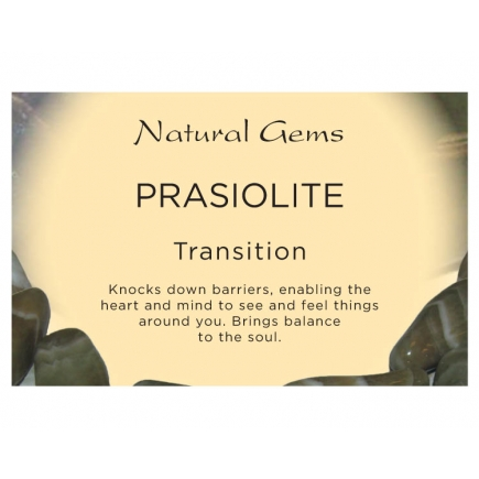 Natural Gems - Prasiolite Crystal Information Cards - Pack of 50