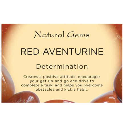 Natural Gems - Red Aventurine Crystal Information Cards - Pack of 50