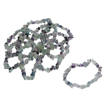 Fluorite Tumbled  Chip Bracelets Pack of 10