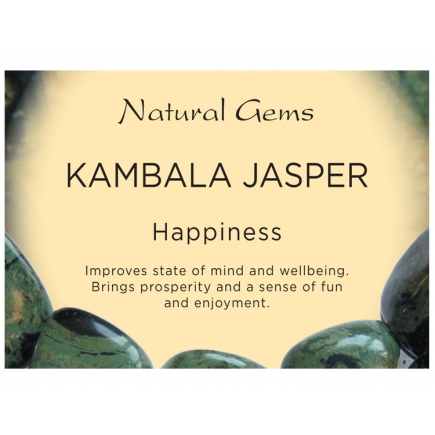 Natural Gems - Kambala Jasper Crystal Information Cards - Pack of 50