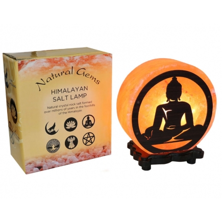 Buddha Design Salt Lamp & Lead