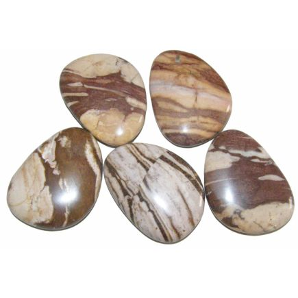 Red Line Agate Thumb Stones