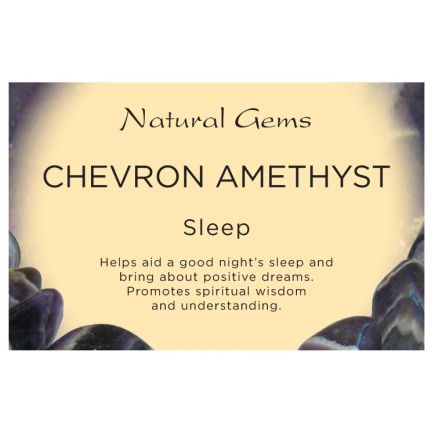 Natural Gems - Chevron Amethyst Crystal Information Cards - Pack of 50