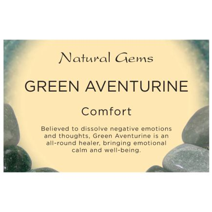Natural Gems - Green Aventurine Crystal Information Cards - Pack of 50
