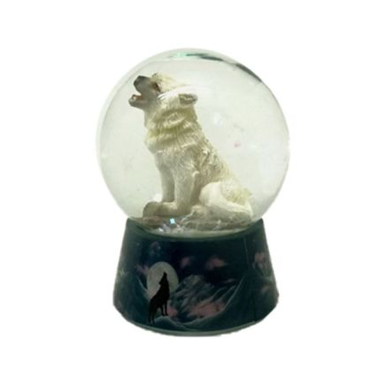 Protector Wolf Snow Globe