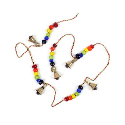 String of Bells with Rainbow Beads