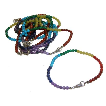 Chakra Beaded Bracelet with clasp (pack of 10)
