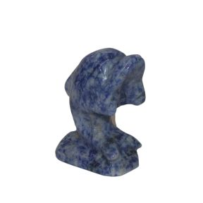 Sodalite Dolphin Carving - 50mm