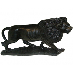 Hand Carved Black Serpentine Lion