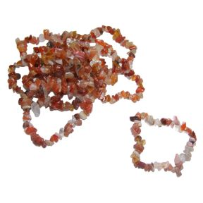 Carnelian Tumble Chip Bracelets Pack of 10