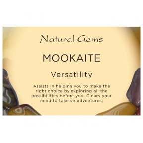 Natural Gems - Mookaite Crystal Information Cards - Pack of 50