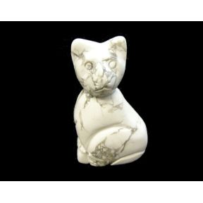 Howlite Cat - 50mm