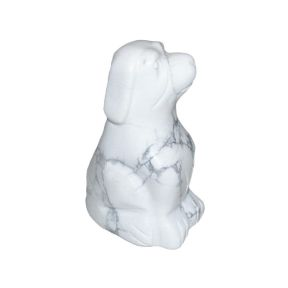 Howlite Dog - 50mm