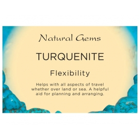Natural Gems - Turquenite Crystal Information Cards - Pack of 50