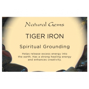 Natural Gems - Tiger Iron Crystal Information Cards - Pack of 50