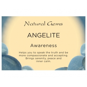 Natural Gems - Angelite Crystal Information Cards - Pack of 50