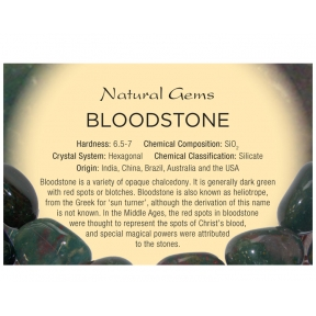 Natural Gems - Bloodstone Educational Info Cards - Pack of 50