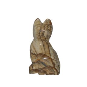 Picture Jasper Cat Carving - 50mm