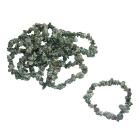 Snake Dragon Jade Tumbled Chip Bracelets Pack of 10
