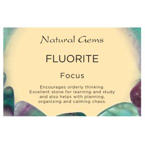 Natural Gems - Fluorite Crystal Information Cards - Pack of 50