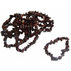 Red Tigers Eye Tumble Chip Bracelets Pack of 10