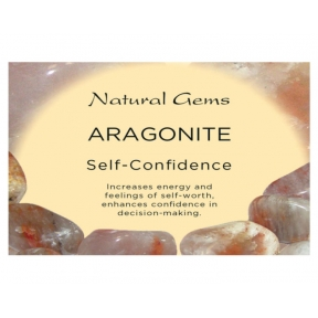 Natural Gems - Aragonite Crystal Information Cards - Pack of 50