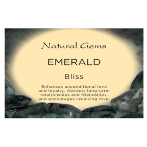 Natural Gems - Emerald Crystal Information Cards - Pack of 50