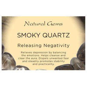 Natural Gems - Smoky Quartz Crystal Information Cards - Pack of 50