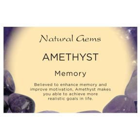 Natural Gems - Amethyst Crystal Information Cards - Pack of 50
