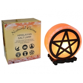 Pentagram Design Salt Lamp & Lead