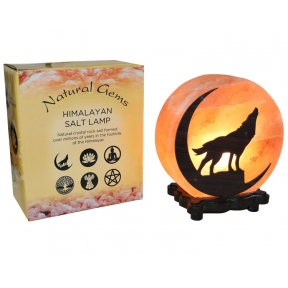 Wolf Design Salt Lamp & Lead