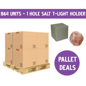 Pallet Deal - Boxed Salt Tealight One Hole - 864 pieces