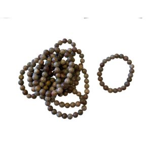 Flower Grass Jasper Bead Bracelet - Pack of 10