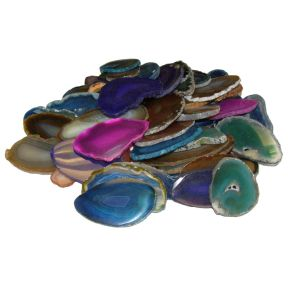 Grade B - Agate Slices - Pack of 50