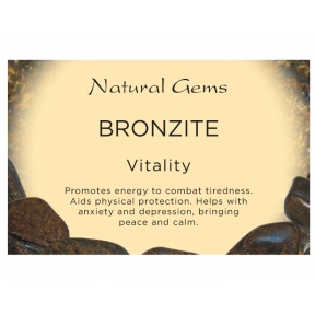 Natural Gems - Bronzite Crystal Information Cards - Pack of 50