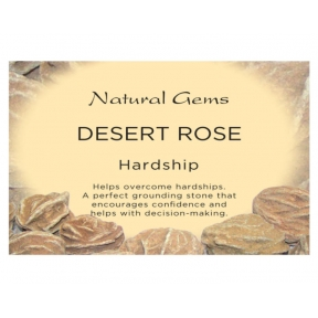 Natural Gems - Desert Rose Crystal Information Cards - Pack of 50