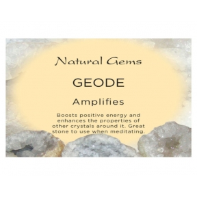 Natural Gems - Geode Crystal Information Cards - Pack of 50