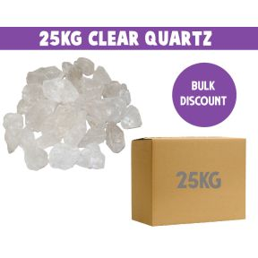 Clear Quartz Rough 25KG Box