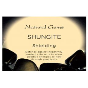 Natural Gems - Shungite Crystal Information Cards - Pack of 50