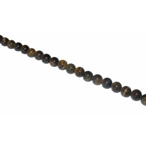 Blue Tigers Eye Rounded Beads