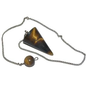 Golden Tigers Eye Cone Pendulum