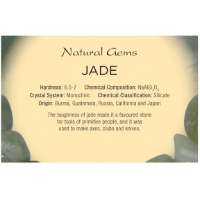 Natural Gems - Jade Educational Info Cards - Pack of 50