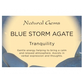 Natural Gems - Blue Storm Crystal Information Cards - Pack of 50