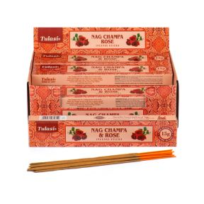 Tulasi Rose Nag Champa Sticks