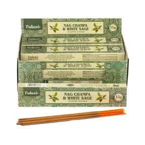 Tulasi White Sage Nag Champa Sticks