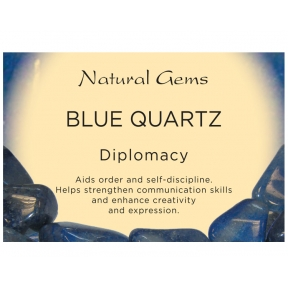 Natural Gems - Blue Quartz Crystal Information Cards - Pack of 50