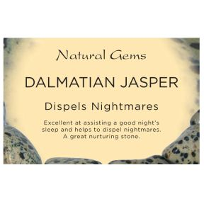 Natural Gems - Dalmatian Jasper Crystal Information Cards - Pack of 50