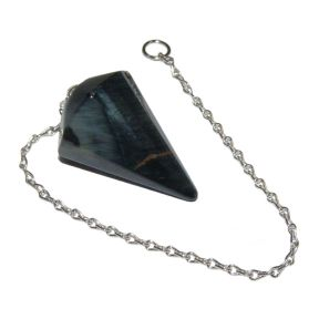 Blue Tigers Eye Faceted Pendulum