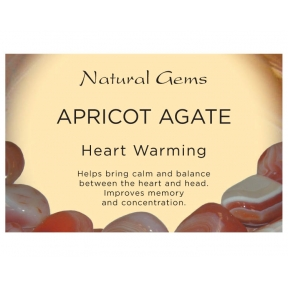 Natural Gems - Apricot Agate Crystal Information Cards - Pack of 50